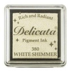 "TINTA INKPADS DELICATE SMALL ""WHITE SHIMMER"""