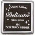 "TINTA INKPADS DELICATE SMALL ""DARK BROWN SHIMMER"""