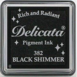 "TINTA INKPADS DELICATE SMALL ""BLACK SHIMMER"""