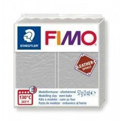 FIMO ARCILLA POLIMERICA EFECTO CUERO 2 oz. COLOR DOVE GREY