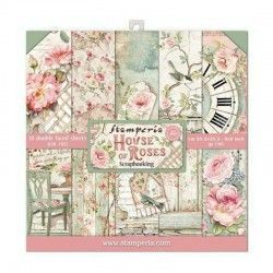 BLOC 10 HOJAS HOUSE OF ROSES (20 X 20 CM) DOBLE CARA