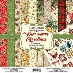 PAPEL OUR WARM CHRISTMAS (30 X 30 CM) DOBLE CARA