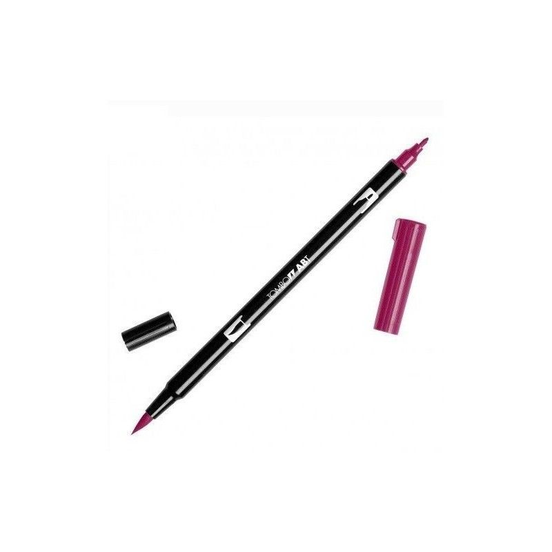 TOMBOW DUAL BRUSH PEN 837 WINE RED