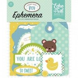 DIE CUTS SWEET BABY BOY ICONS ECHO PARK (33 PCS)